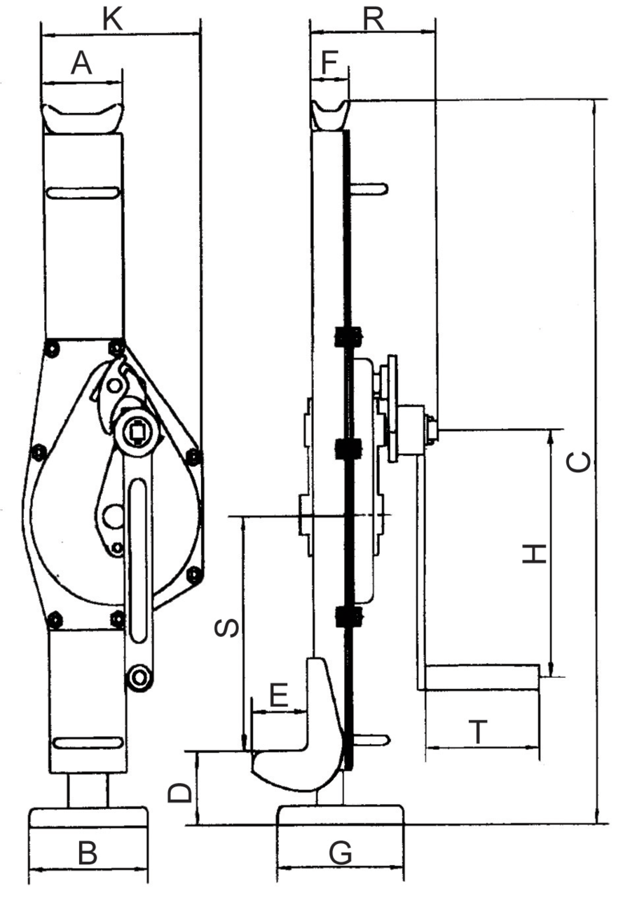 Rack jack POWERTEX drawing